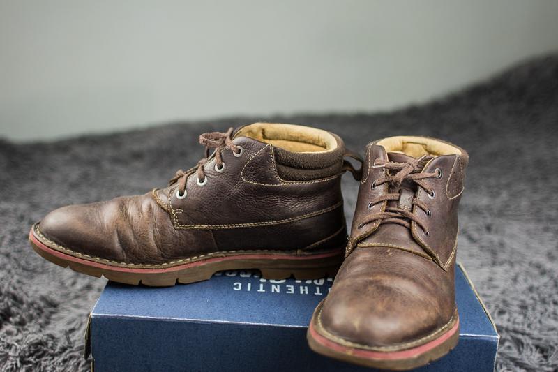 Мужские, кожаные ботинки clarks. демисезонные. - Фото 8