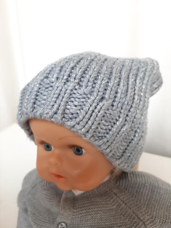 Шапка на девочку 2-4 года шапочка