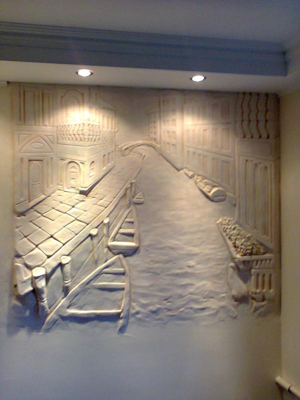 Декоративная штукатурка стен, перегородок, художественная росп...
