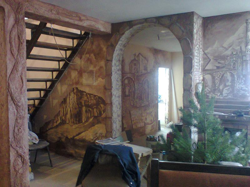 Декоративная штукатурка стен, перегородок, художественная росп... - Фото 2