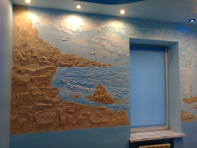 Декоративная штукатурка стен, перегородок, художественная росп... - Фото 3