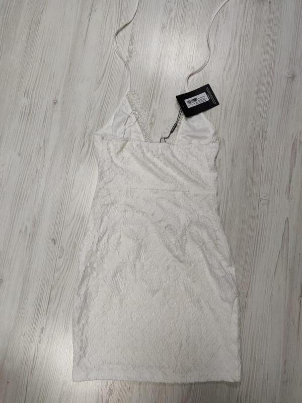 Ликвидация товара 🔥 белое кружевное мини платье халтер нарядное - Фото 4