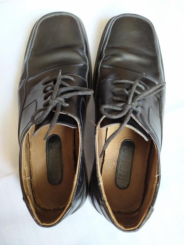 Туфли кожаные/туфлі шкіряні - Фото 3