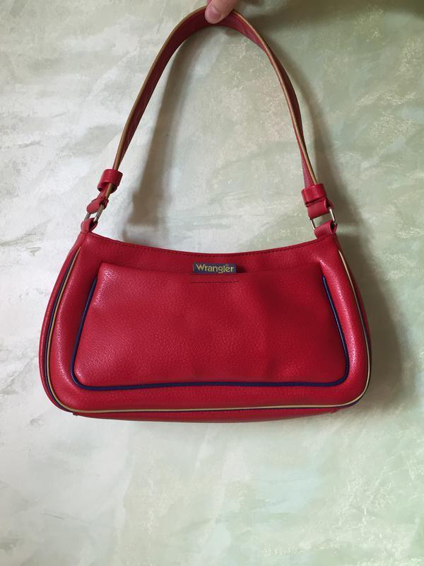Стильная сумка багет wrangler красного цвета, оригинал,качеств...
