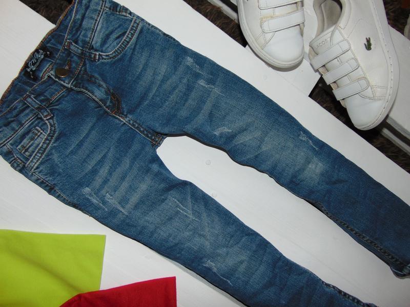 Стильні стрейчеві джинсулі junior ріст 116 - Фото 2