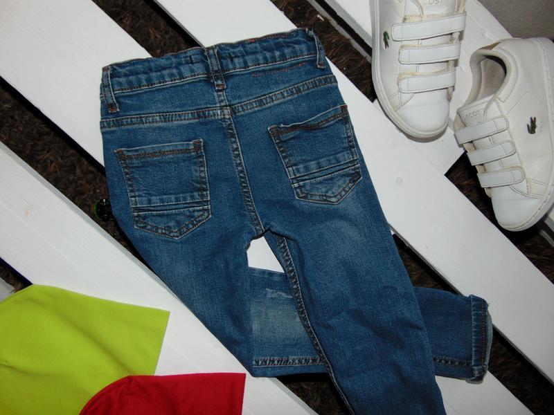 Стильні стрейчеві джинсулі junior ріст 116 - Фото 3