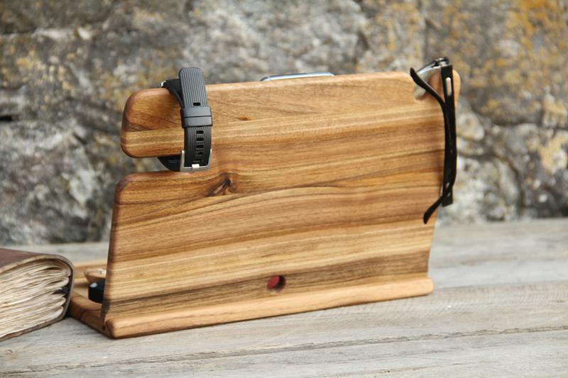Настольный органайзер из древесины ореха в подарок мужу шефу отцу - Фото 2