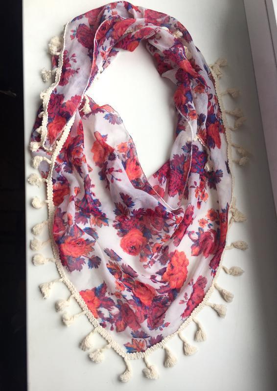 Яркий, красивый шарф, платок цветной f&f