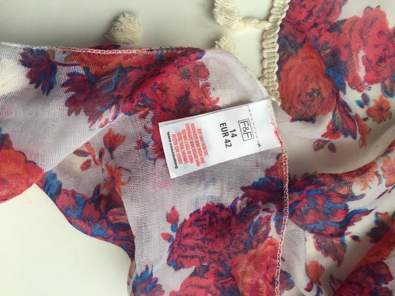 Яркий, красивый шарф, платок цветной f&f - Фото 3