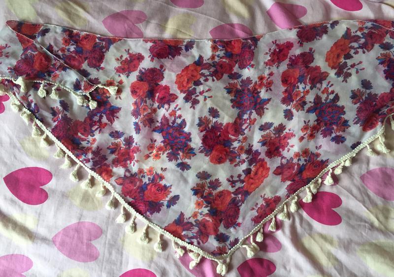 Яркий, красивый шарф, платок цветной f&f - Фото 4