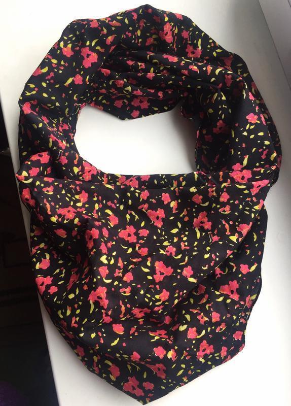 Красивый шарф, платок, цветочный принт pieces accessories - Фото 4