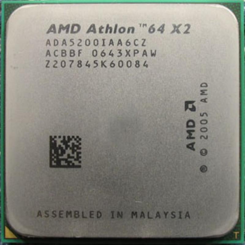 Процессор AMD Athlon 64 X2 5200+, 2 ядра, 2.7ГГц, AM2