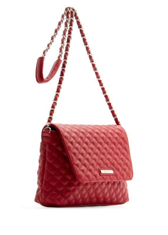 Стильная сумка кросс-боди mango через плечо красная на цепочке