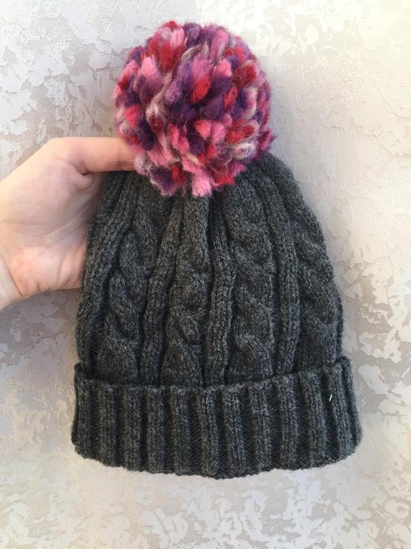 Качественная шапка для девочки c&a, шерстяная - Фото 3