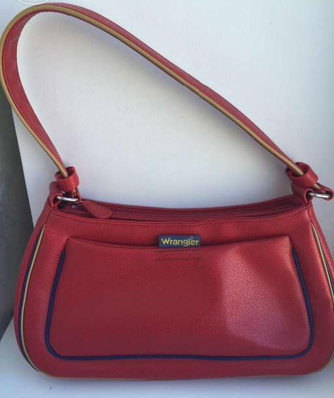 Стильная сумка wrangler красного цвета, оригинал, новая, качес...