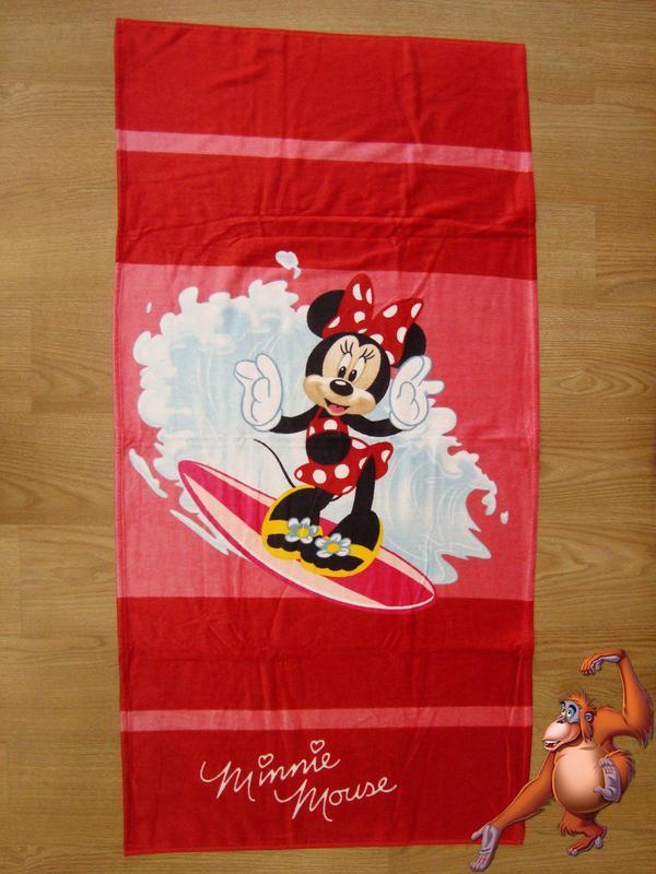 Пляжное полотенце минни маус