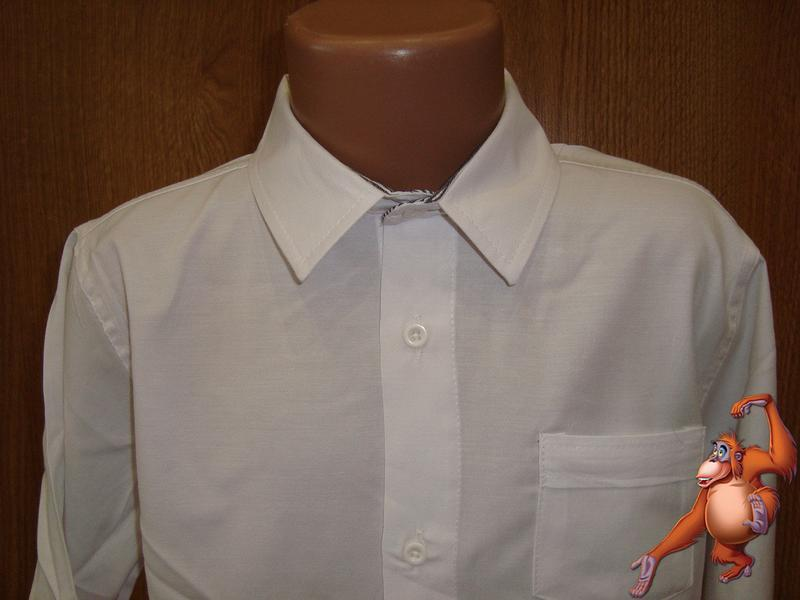 Рубашка белая школа - Фото 2