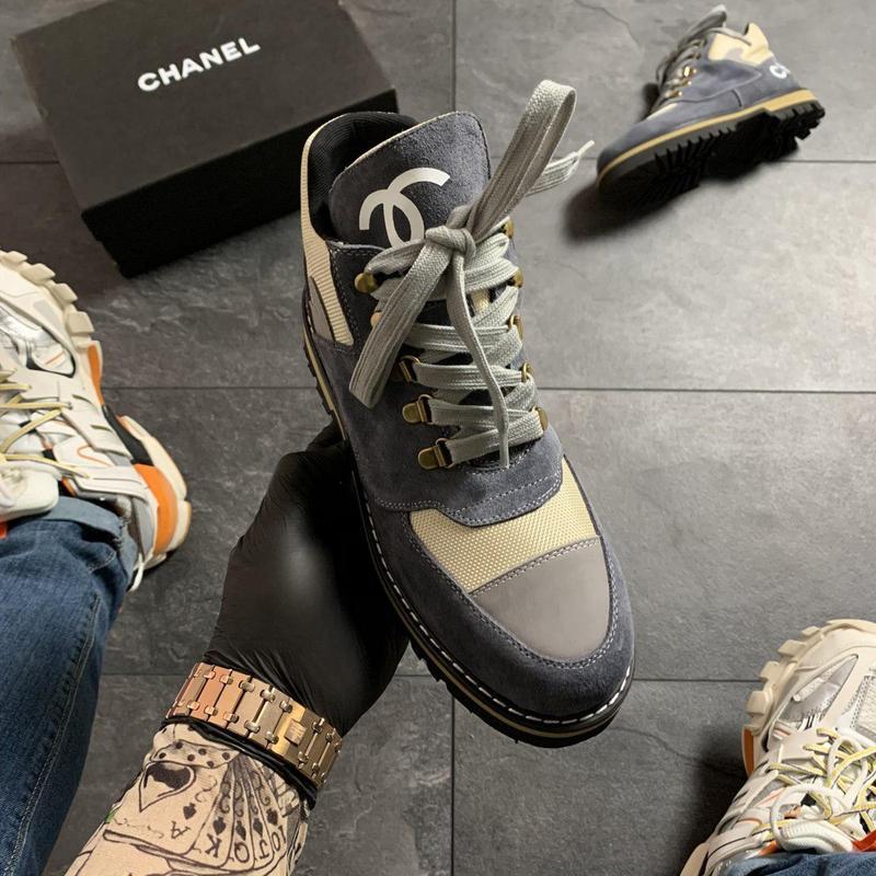 Chanel grey beige . - Фото 7