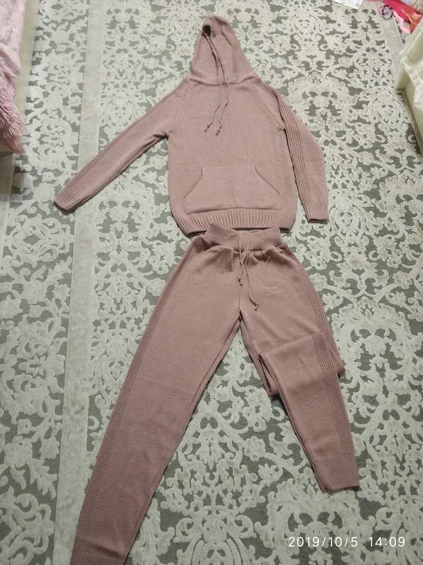 Вязаный повседневный костюм, размер 42-48 - Фото 4
