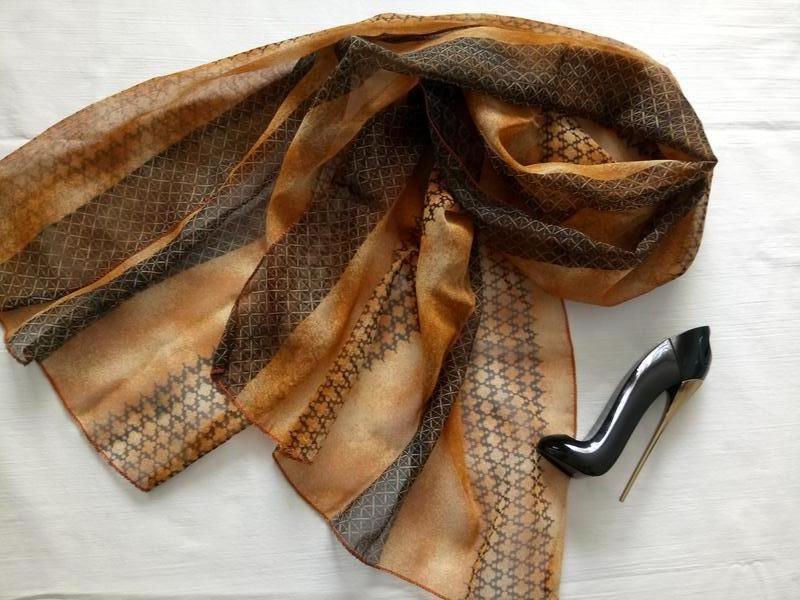 Легкий воздушный шарф - Фото 3