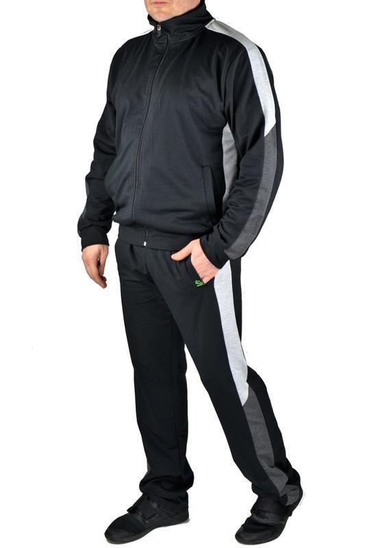 Мужской трикотажный повседневный спортивный костюм - Фото 3