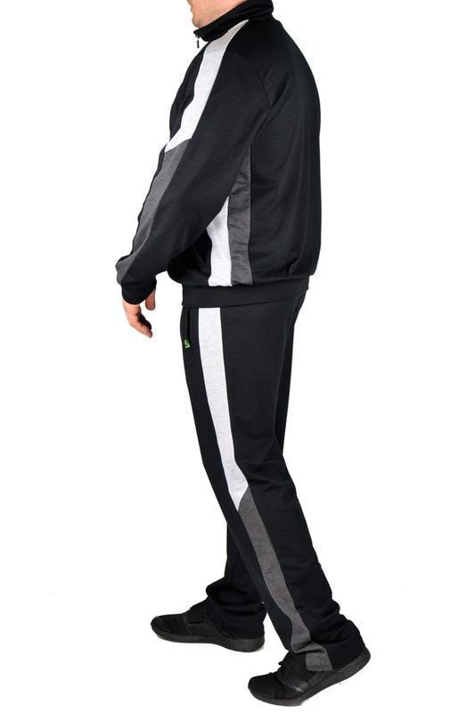 Мужской трикотажный повседневный спортивный костюм - Фото 5