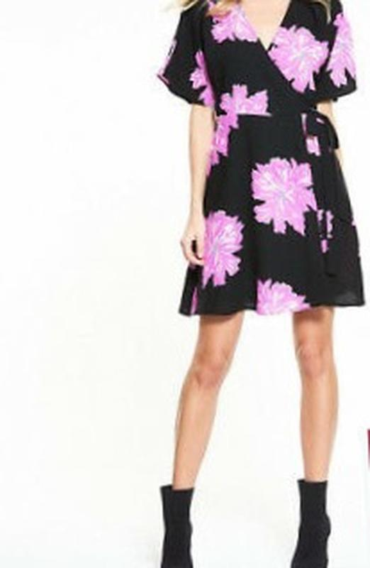 Платье на запах с запахом vero moda - Фото 3