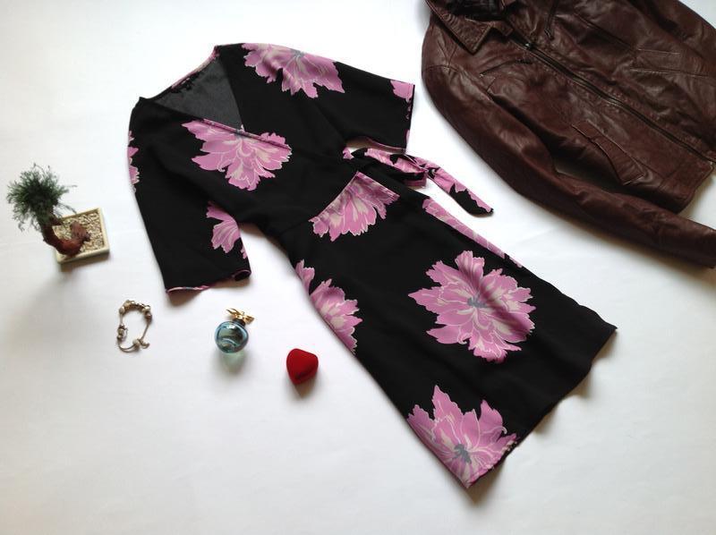 Платье на запах с запахом vero moda - Фото 7