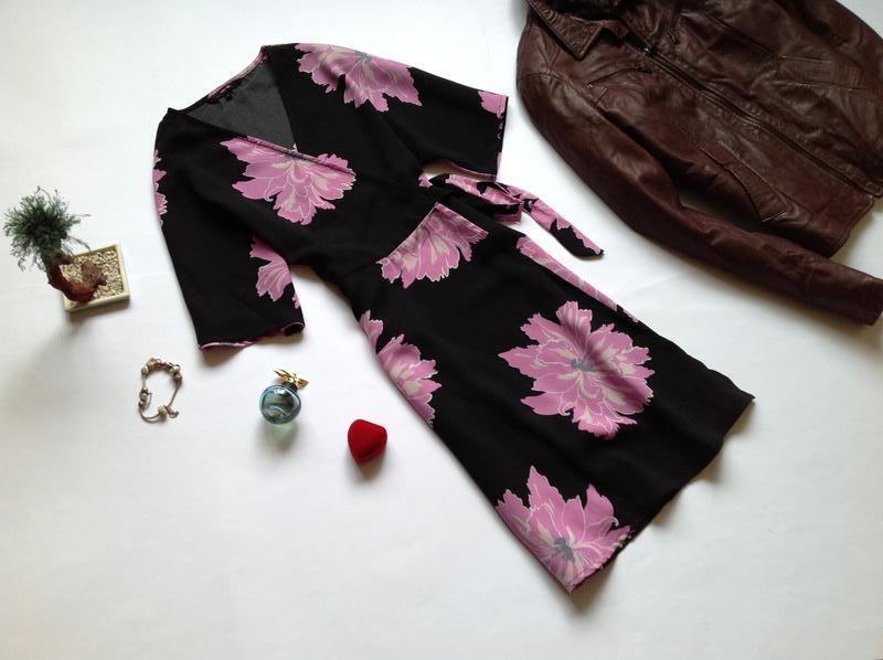 Платье на запах с запахом vero moda - Фото 8