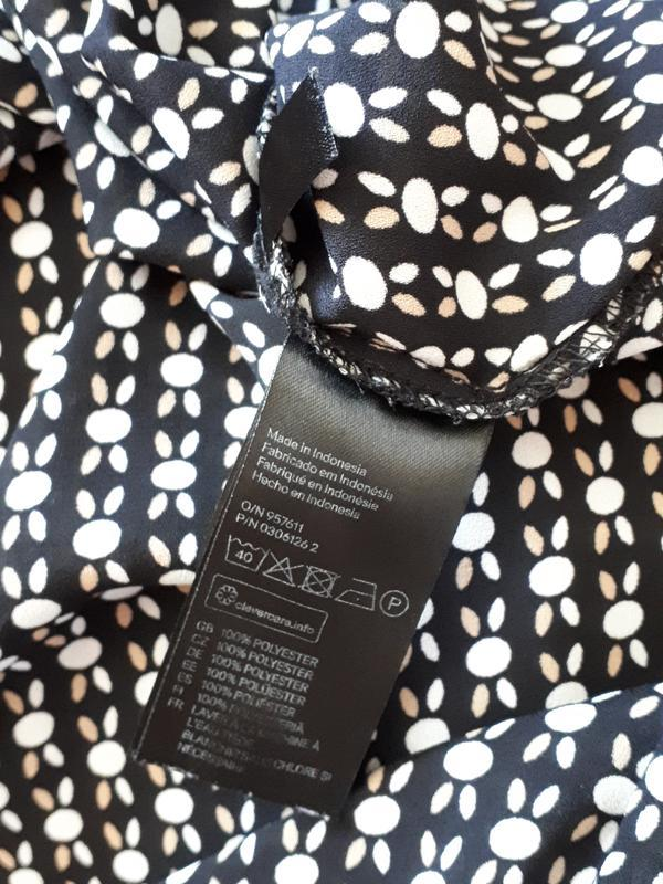 Блуза в контрастный узор  в стиле 60-х h&m ( размер 10) - Фото 5