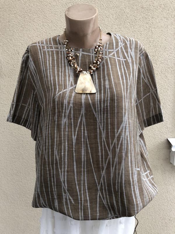 Блуза,рубаха,кофточка льняная,этно бохо стиль,большой размер,