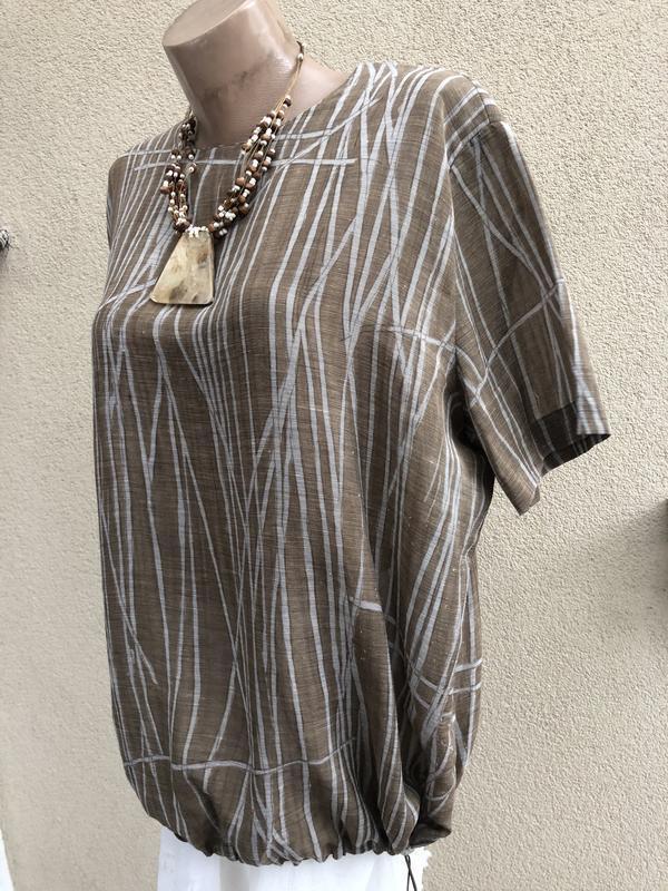 Блуза,рубаха,кофточка льняная,этно бохо стиль,большой размер, - Фото 8