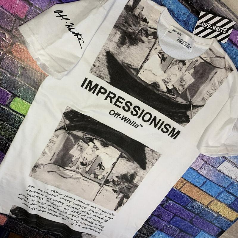Футболка белая - off-white impressionism • ориг бирки• футболк... - Фото 3