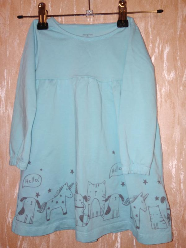 Платье с длинным рукавом для девочки 12-18 мес
