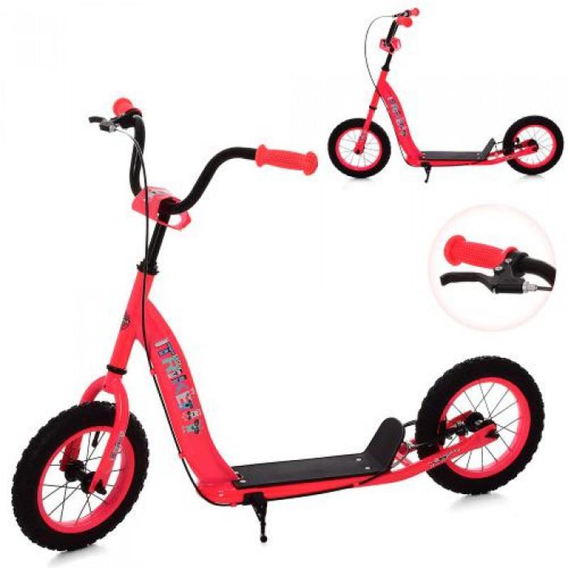 Детский самокат с надувными колесами  SR 2-043-BP Розовый