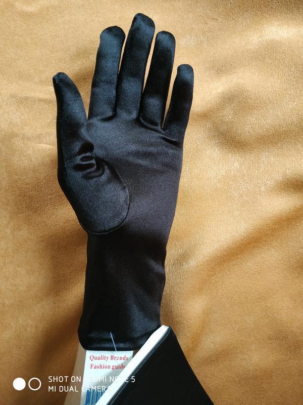 """Перчатки черные """"романия"""" - Фото 5"""