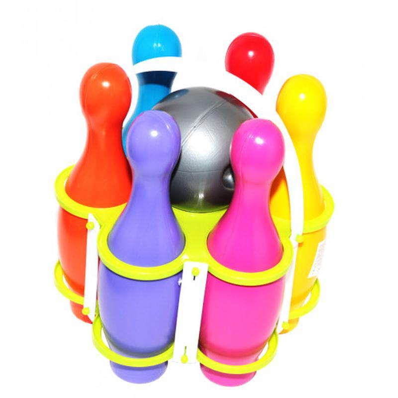 Набор для боулинга (6 кеглей и шар) Окто Разноцвет