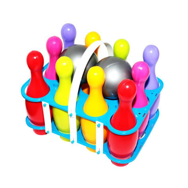 Набор для боулинга (10 кеглей и 2 шара) Окто Разноцвет