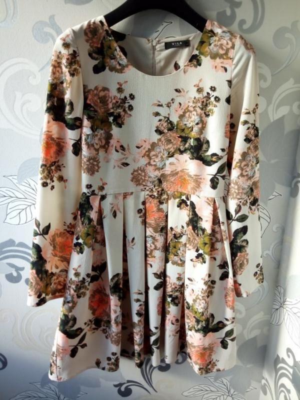 Цветочное платье весна - осень