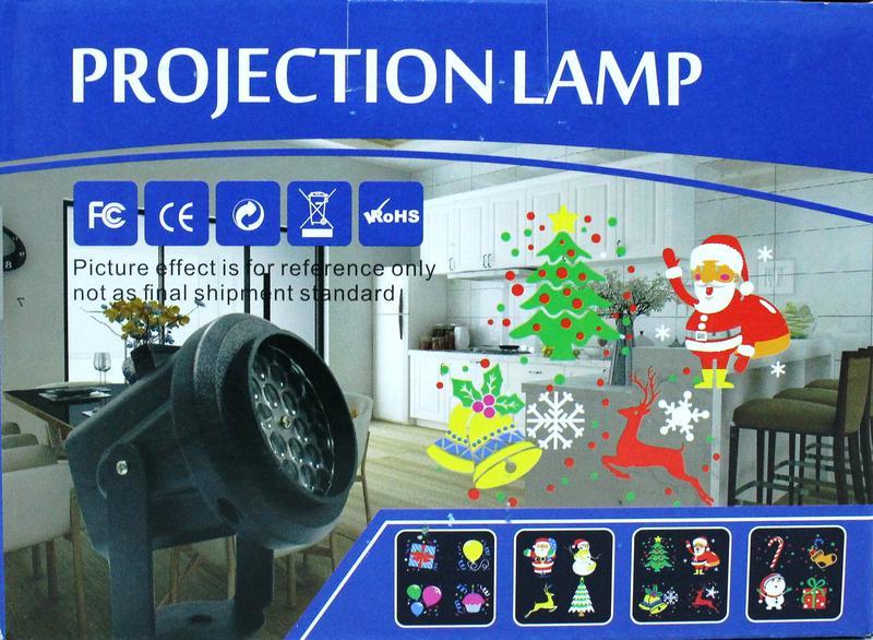 Лазерный проектор на Новый год Projection Lamp с 16-ю рисункам...