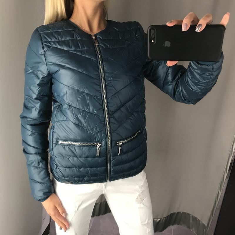 Красивая куртка на синтепоне стёганная курточка. amisu. размер...