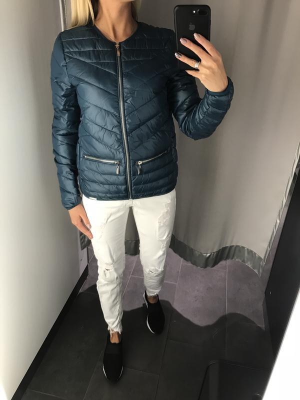 Красивая куртка на синтепоне стёганная курточка. amisu. размер... - Фото 2