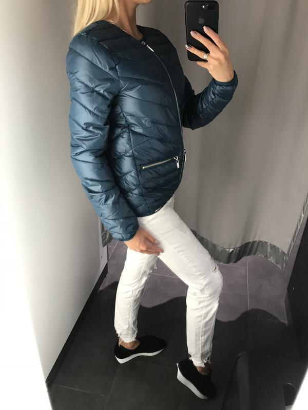 Красивая куртка на синтепоне стёганная курточка. amisu. размер... - Фото 3