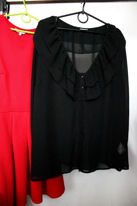 Шифоновая блуза с рюшами
