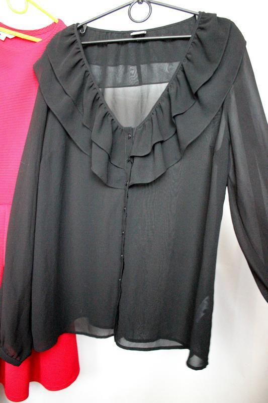 Шифоновая блуза с рюшами - Фото 2