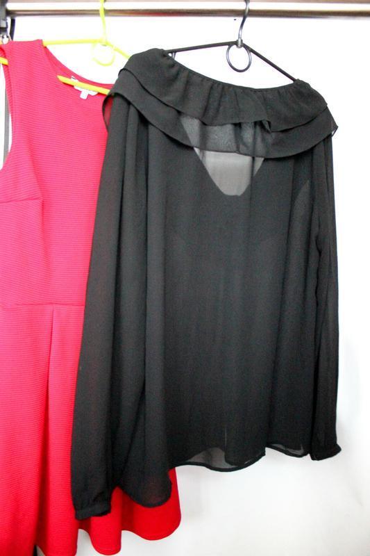 Шифоновая блуза с рюшами - Фото 3