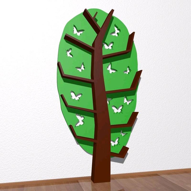 Деревянная полка, Tree Bookshelf - Фото 2