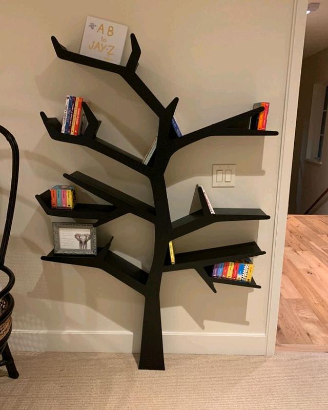 Полка дерево,  Tree Bookshelf, Interior, Books, Книги, Хранение - Фото 2
