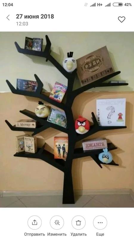 Полка для игрушек, полка-дерево, Tree Bookshelf - Фото 10
