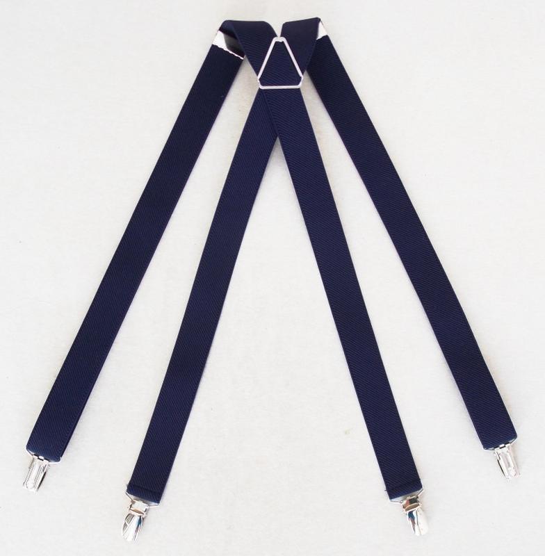 Женские синие подтяжки ширина 2,5 см (арт. 256) - Фото 3
